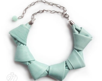 Leather necklace mint LOOPed