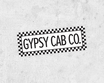 The Royal Tenenbaums Gypsy Cab Co. Sticker! from the Wes Anderson film bumper sticker car