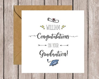 Personalised Congratulations On Your Graduation Card, Graduate Card, Well Done Card, Card for Graduation, Congrats Card, You Did It