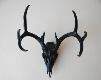 NAVY Deer Skull Antlers Wall Mount