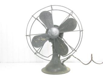 Vintage metal fan,Black fan, metal fan,Diehi fan,appliances,urban chic,rustic, farmhouse decor, Photo Prop,antique fan,