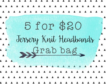Jersey Knit Headband Bundle Grab Bag/Jersey knit Headband/ Assorted Headband, Knot Headband, Assorted Colors Baby, Child, Adult Headband