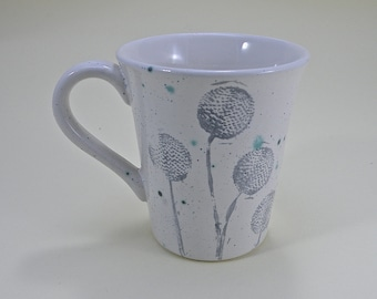 Dandelion  coffee mug tea mug Food safe Lead free Glaze