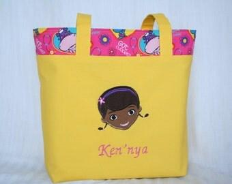 Personalized Doc McStuffins Tote Bag