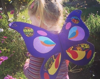 Butterfly wings - dress up - costume - fairy - wifemade