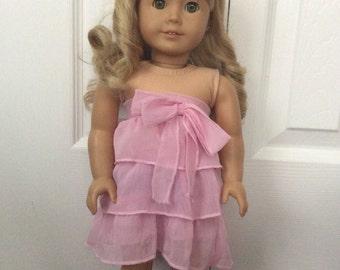 American Girl Doll Pink Dress