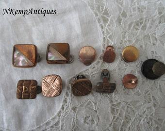 Antique buttons/studs destash for re-purpose