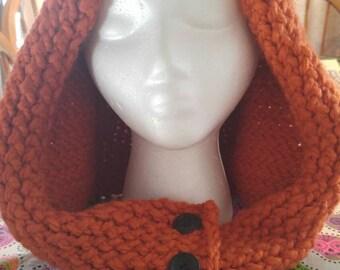 Knitted Ewok hood