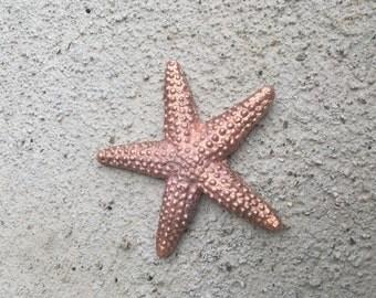 Solid copper starfish figurine