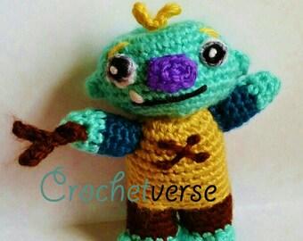 Wallykazam ! Crochet Pattern Amigurumi Doll Toy PDF (not finished item)