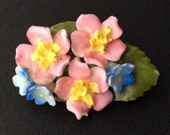 Petite Vintage Floral Brooch