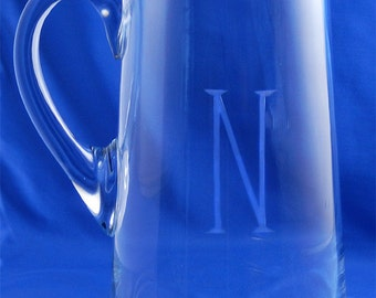 Pitcher, Glass Pitcher, Pouring Pitcher, Iced Tea Pitcher, Monogrammed Pitcher, Engraved Pitcher, Personalized Pitcher, 90 ounces
