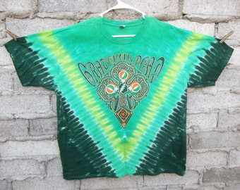 The Grateful Dead T-shirt Hand Dyed XL Oversized Hippie Boho Burning Man Uk Brick Lane Tee