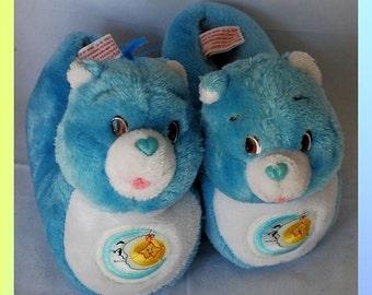 Vintage Child Size 9-10 Bedtime Care Bear Slippers