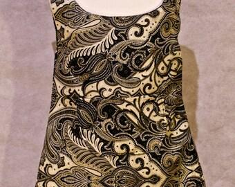 Black Filigree Pattern Print, Patterned Toddler Dress (2-3years)