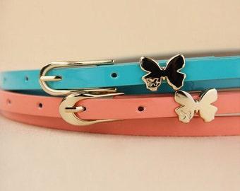 Gold Butterfly Skinny Belt