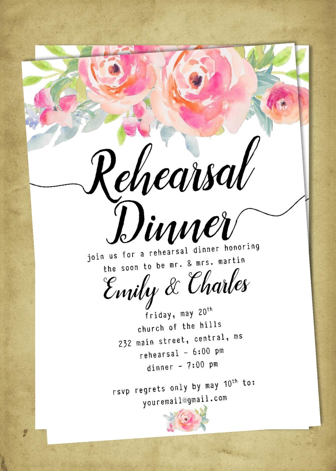 It's just a picture of Gorgeous Free Printable Rehearsal Dinner Invitations