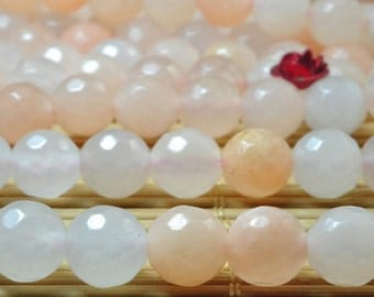 47 pcs Natural Pink Aventurine faceted  round beads in 8mm