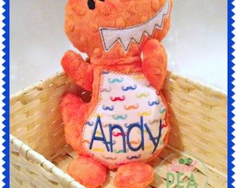 Personalized Plush Dinosaur - Stuffed Animal - Stuffed Dino - Plush Toy - Embroidered  Dinosaur - T-Rex