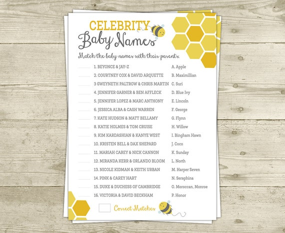 Baby Names Baby Shower Game - orientaltrading.com