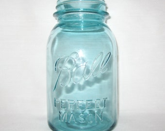 Vintage Number 13 Blue Ball Perfect Mason Jar
