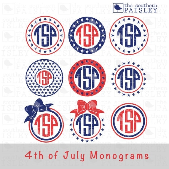 May The Fourth Be With You Svg: 4th Of July Monogram Frames .svg/.eps/.dxf/.jpg/.pdf/.ai For