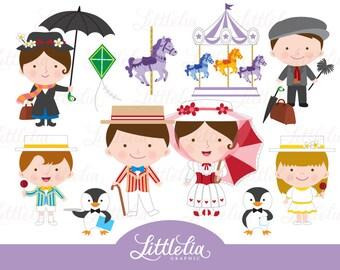 Mary Poppins clipart - 16009