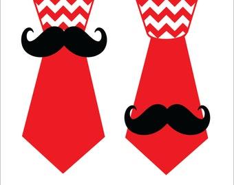 Chevron Mustache Clip Art