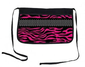 Pink Zebra Two-Pocket Kolorcoat™ Server Apron