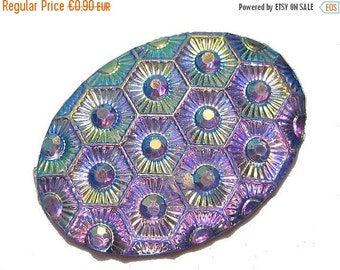 ON SALE 5 Cabochons 25x18mm Lila AB