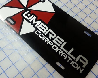 Umbrella Corporation Custom License Plate
