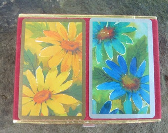 Double Deck Vintage Floral Playing Cards, Deck of Cards, Card Deck