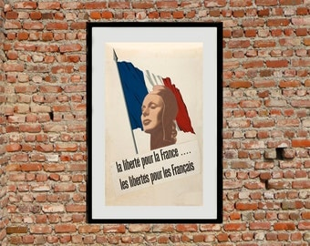 Unity of Strength - Reprint of a WWII French Propaganda Poster