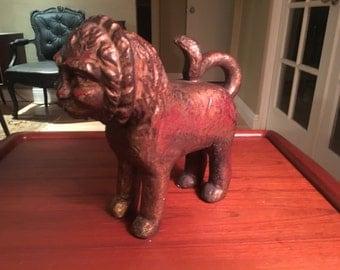 Mid Century Ceramic Zodiac Leo Lion By Austin Productions (1964)