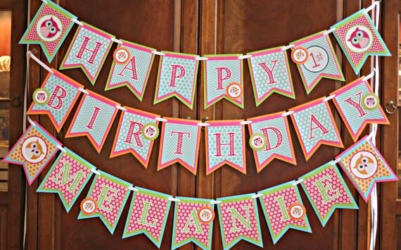 OWL BIRTHDAY DECORATIONS Girl Owl Party Owl birthday party Owl
