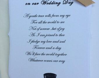 To My Husband on our Wedding Day Card- Beautiful Keepsake