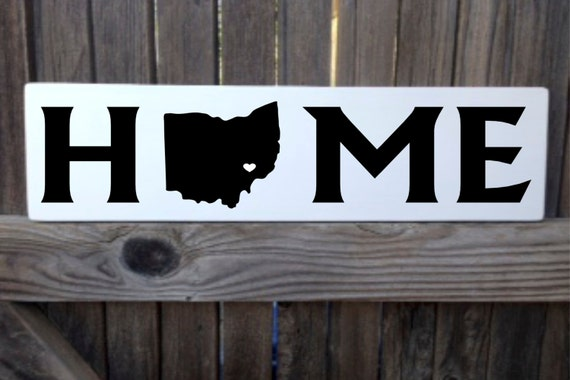 Gift Wood Sign New Home Decor New Home Gifts State Personalized Home