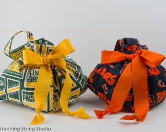 New Football - Plum Creek Knitting Project Bag - Choice of 2 Sizes (FB)