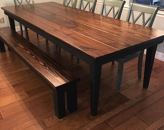 Harvest Table, Farmhouse Table, Dining Table, Rustic, Customizable