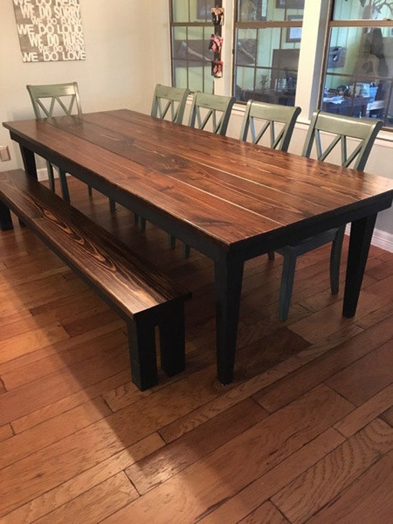 harvest table farmhouse table dining table rustic customizable