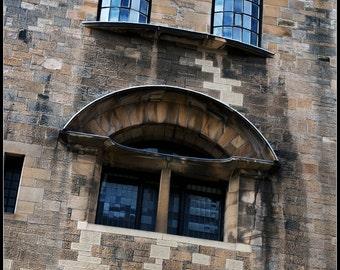 Art School (Glasgow) side elevation, Glicee archival fine art print.