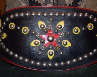 Vintage Harley Davidson Leather Motorcycle Kidney Belt