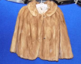 Vintage Mink Jacket by Miller & Rhoads Fur Salon, 3/4 Length Sleeves