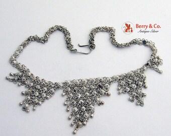 SaLe! sALe! Sterling Filigree Ornate Necklace