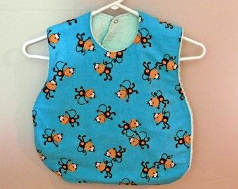 Drool Bib - Dribble Bib - Toddler Bib - Large Bib - Handmade Bib - Toddler Smock - Large Terry Cloth Bib - Toddler Apron - Toddler Art Smock