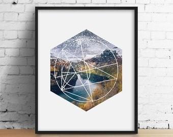Minimal geometry etsy for Minimal art venezuela