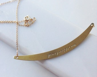 Stamped Arc Necklace