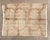 Tan African Vintage Tribal Mudcloth From Mali