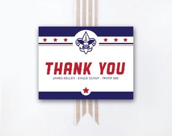 INSTANT DOWNLOAD Eagle Court of Honor thank-you note / Eagle Scout thank-you / personal Eagle Scout thank-you card