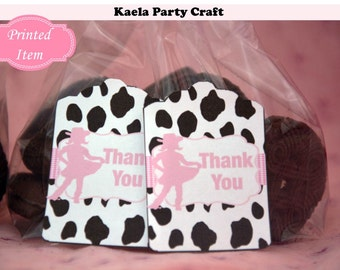 Cowgirl thank you tags. Cowgirl birthday. Cowgirl party. Cowgirl baby shower Cowgirl birthday party Cowgirl party favors Cowgirl decorations
